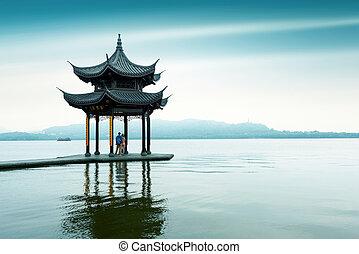 West Lake in Hangzhou, Zhejiang, China