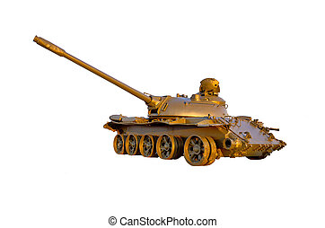 Military tank isolated on white background