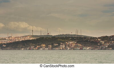 sea traffic on the Bosphorus - Time Lapse Photography sea...