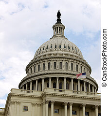 Top of the Capitol Building - The west side of the United...