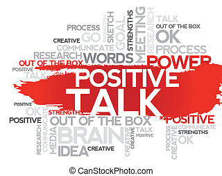 POSITIVE TALK Business collage - POSITIVE TALK Word business...