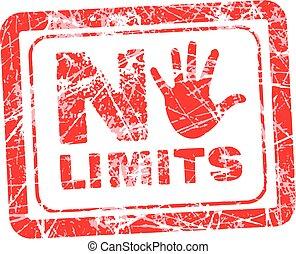 No limit grunge rubber stamp - No limit red grunge rubber...