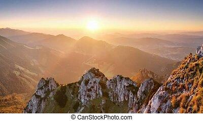 Motion - Slovakia mountain peak Rozsutec
