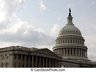 Capitol Building Pillars - The front of the United States...