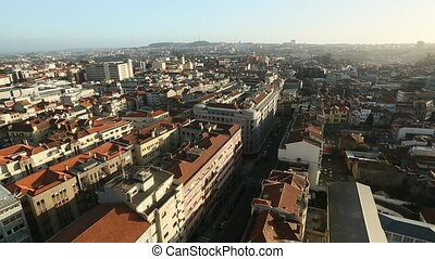 Birds-eye view of the centre of Porto, Portugal