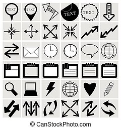 Vector Illustration of Different Icons