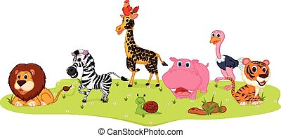 Happy Wild Animal cartoon