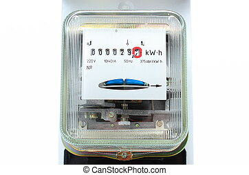 Electric energy meter old electromechanical type - Power...