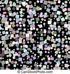 Mosaic seamless pattern on black background Vector...