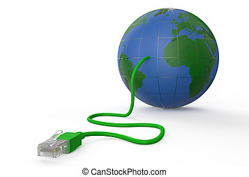 global network connection concept 3 - background, white,...