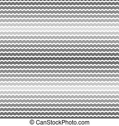 Wave gray gradient background, seamless pattern. Vector