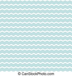wave blue background, seamless pattern Vector - wave blue...
