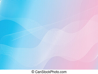 Abstract pink and blue background with  lines