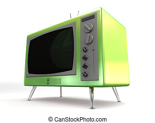 retro tv - 3d rendered illustration of an old tv