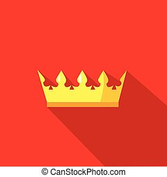 crown in flat design style