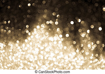 bokeh lights sepia color on black background
