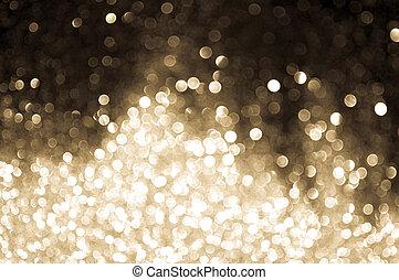 bokeh lights sepia color on black background