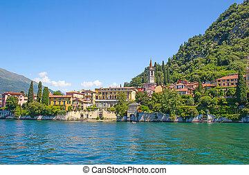 Lake Como - Panoramic view of Cernobbio town (Como lake,...