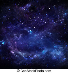 beautiful starry sky, space background