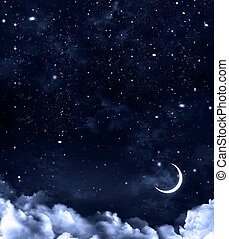 nightly sky, abstract beautiful background