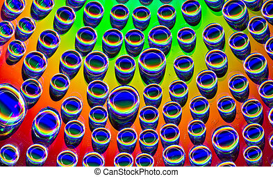 Rainbow Droplets - Placed ~300 water droplets one for...