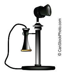candelstick phone in 3d - antique candlestick telephone from...
