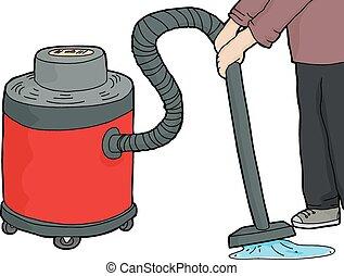 Wet-Dry Vacuum Over Water