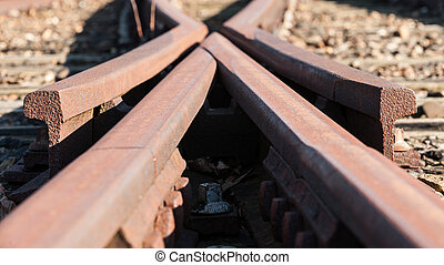 Detail from a old Railway swith track