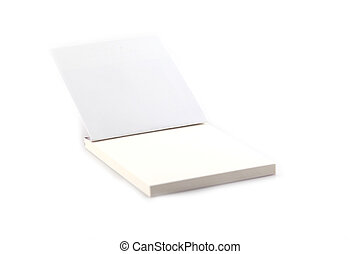 Notebook pamphlet isolate on white background
