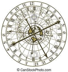 metal astronomical clock - Image of the metal astronomical...