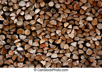 Cut firewood stack logs as pattern background
