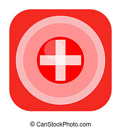 Medical cross icon - First aid icon with medical cross