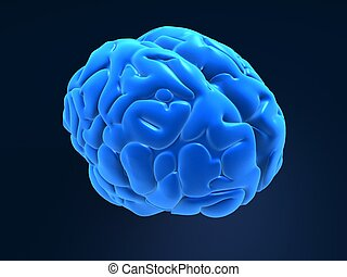 blue brain - 3d rendered anatomy illustration of a human...