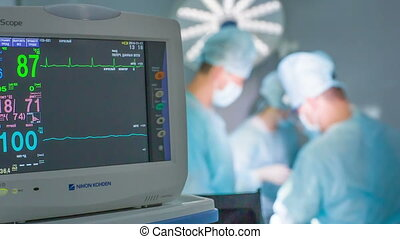 Heart monitor 04 HD - Medical monitor in the operating room.
