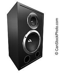 3d speaker - 3d rendered illustration of a big black box