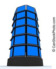 lcd tower - 3d rendered illustration of many lcd displays