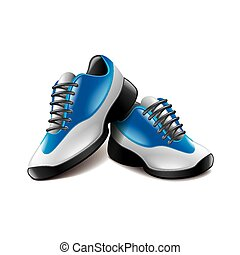Sport shoes isolated on white vector - Sport shoes isolated...
