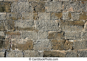 Antique grunge old gray stone wall masonry