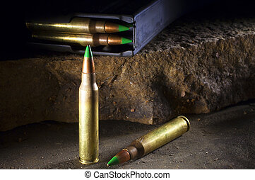 Armor piercing cartridges - Green tipped 556 ammunition that...