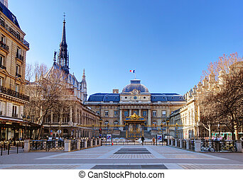 The Palais de Justice (Palace of Justice), Paris.