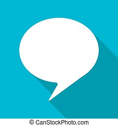 Vector flat icon - Vector flat callout icon isolated on blue...