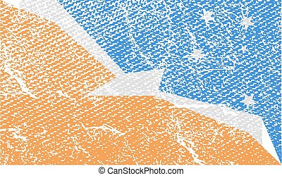 Flag of with old texture Vector illustration