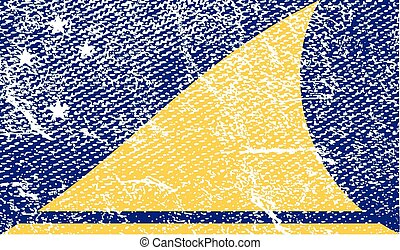 Flag of Tokelau with old texture. Vector illustration