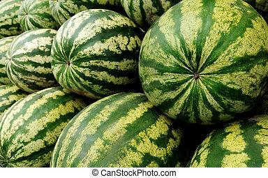 watermelon - heap of ripe watermelons