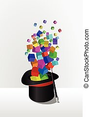 top hat  - illustration of top hat of the magic
