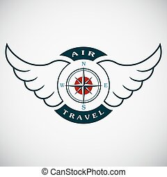 Vector stamp air travel - Vector stamp with the image of the...