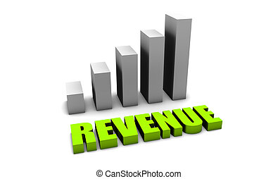 Green Revenue of a Company Profits in 3d