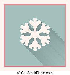low temperature sign snowflake symbol