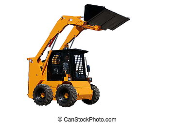 skid steer loader (isolated) - skid steer loader with full...