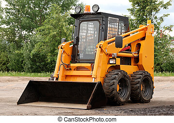 skid steer loader outdoors